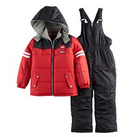 Toddler Boy I-Extreme Colorblock Jacket & Bib Overall Snow Pants Set