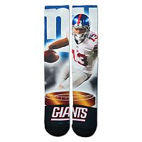 Adult For Bare Feet New York Giants Odell Beckham Jr. City Star Crew Socks