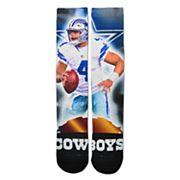 Adult For Bare Feet Dallas Cowboys Dak Prescott City Star Crew Socks