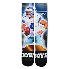 Adult For Bare Feet Dallas Cowboys Dak Prescott City Star Crew Socks