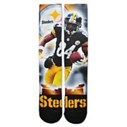 Adult For Bare Feet Pittsburgh Steelers Antonio Brown City Star Crew Socks