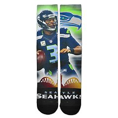 Adult For Bare Feet Seattle Seahawks Russell Wilson City Star Crew Socks