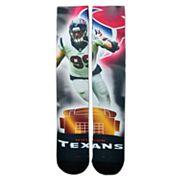 Adult For Bare Feet Houston Texans J. J. Watt City Star Crew Socks