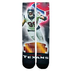 Adult For Bare Feet Houston Texans J. J. Watt City Star Crew Socks