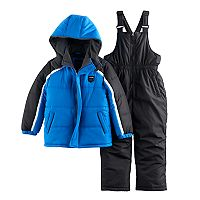 Boys 4-7 I-Extreme Blue Winter Jacket & Bib Overall Snow Pants Set