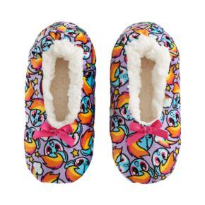 Girls 4-16 My Little Pony Rainbow Dash Fuzzy Babba Slippers
