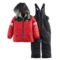 Boys 4-7 I-Extreme Colorblock Jacket & Bib Overall Snow Pants Set