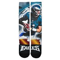 Adult For Bare Feet Philadelphia Eagles Carson Wentz City Star Crew Socks