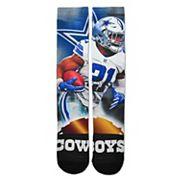 Adult For Bare Feet Dallas Cowboys Ezekiel Elliott City Star Crew Socks