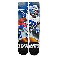 Adult For Bare Feet Dallas Cowboys Ezekiel Elliott City Star Crew Socks