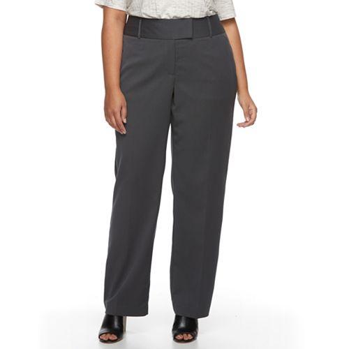 Plus Size Apt. 9® Modern Fit Wide-Leg Dress Pants
