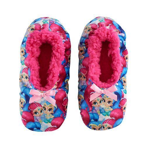 5e9bd3ac8870 Girls 4-16 Shimmer   Shine Fuzzy Babba Slippers