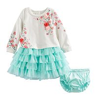 Baby Girl Nannette Floral Dress & Bloomer Set