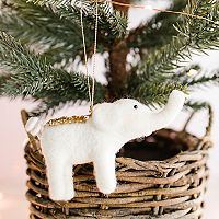 LC Lauren Conrad Elephant Christmas Ornament