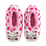 Girls 4-16 Cat Face Fuzzy Babba Slippers