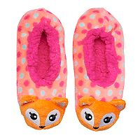 Girls 4-16 Fox Fuzzy Babba Slippers