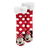 Disney's Minnie Mouse Girls 4-16 Polka-Dot Thick Cozy Warmer Socks
