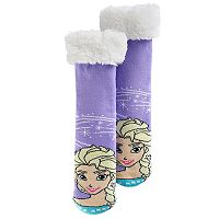 Disney's Frozen Elsa Girls 4-16 Thick Cozy Warmer Socks
