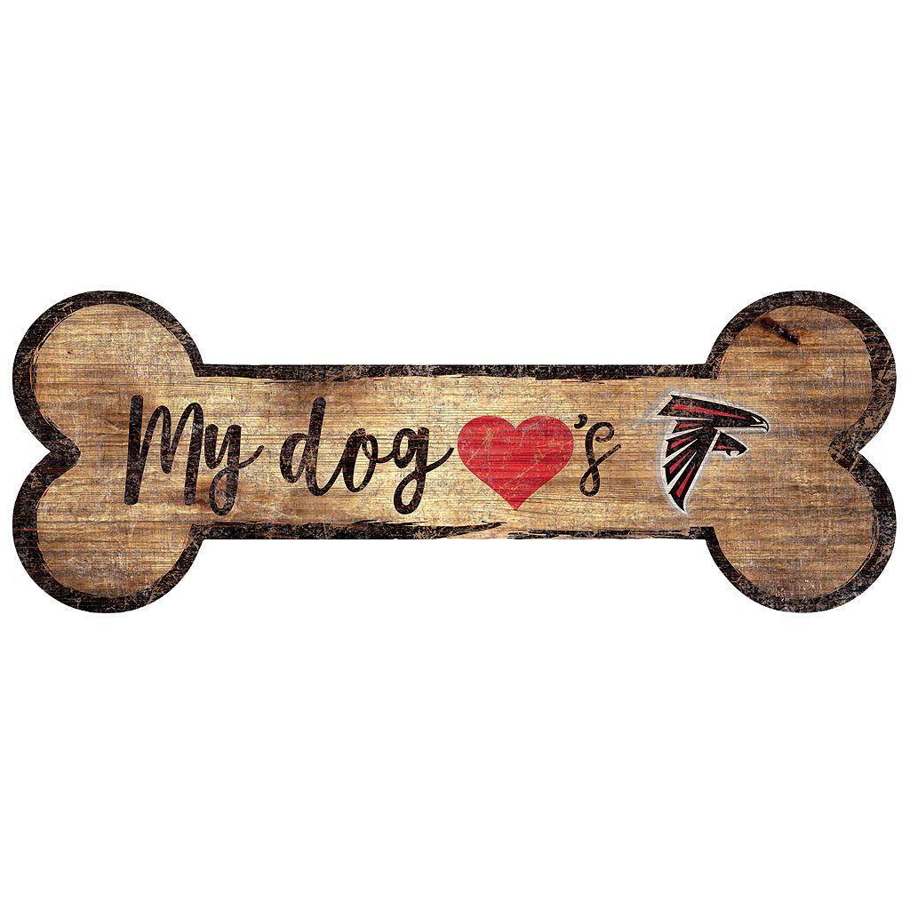 Atlanta Falcons Dog Bone Wall Sign