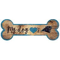 Carolina Panthers Dog Bone Wall Sign