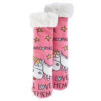 Girls 4-16 Despicable Me 3 Unicorns Thick Cozy Warmer Socks