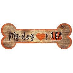 Cincinnati Bengals Dog Bone Wall Sign
