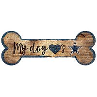 Dallas Cowboys Dog Bone Wall Sign