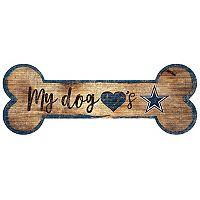 Dallas Cowboys Dog Bone Wall Sign