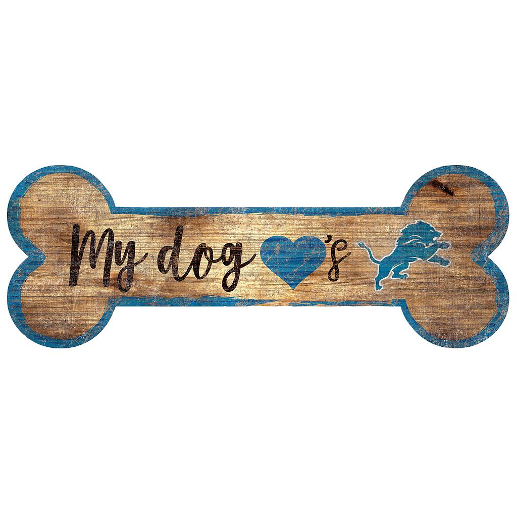 Detroit Lions Dog Bone Wall Sign