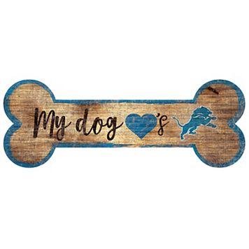 Detroit Lions Dog Bone Wall Sign
