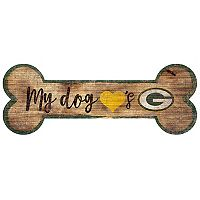 Green Bay Packers Dog Bone Wall Sign