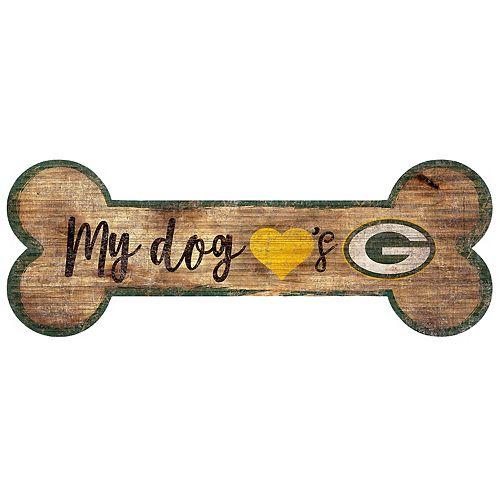 Green Bay Packers Dog Bone Wall Sign