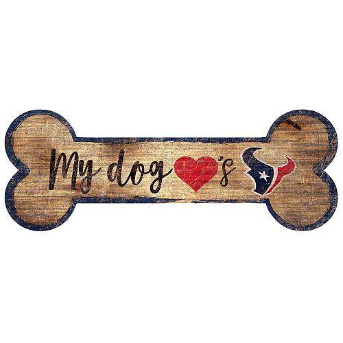Houston Texans Dog Bone Wall Sign
