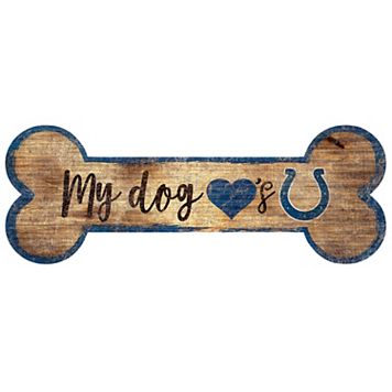 Indianapolis Colts Dog Bone Wall Sign