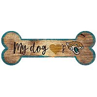 Jacksonville Jaguars Dog Bone Wall Sign