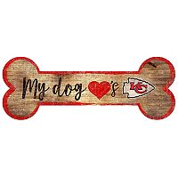 Kansas City Chiefs Dog Bone Wall Sign