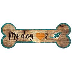 Miami Dolphins Dog Bone Wall Sign