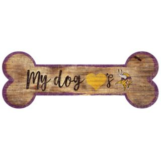 Minnesota Vikings Dog Bone Wall Sign