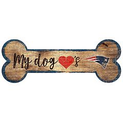 New England Patriots Dog Bone Wall Sign