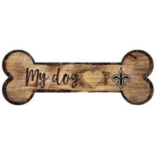 New Orleans Saints Dog Bone Wall Sign