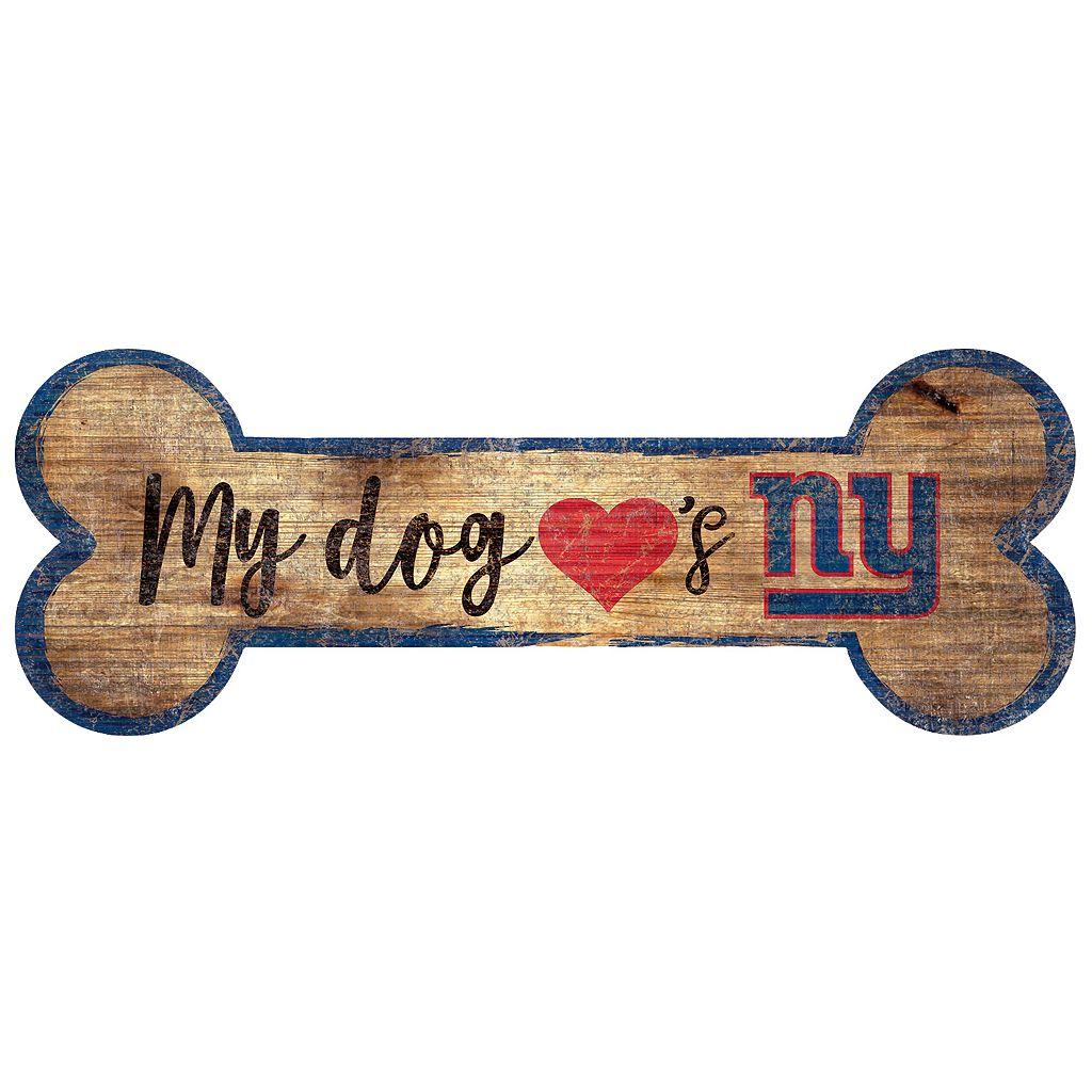 New York Giants Dog Bone Wall Sign