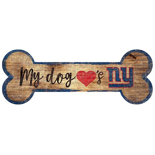 New York Giants Dog Bone Wall Sign