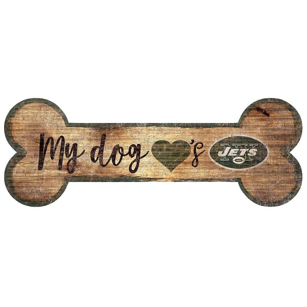 New York Jets Dog Bone Wall Sign