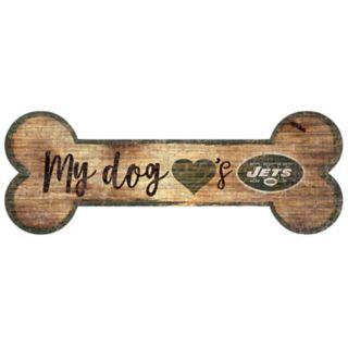 New York Jets Dog Bone Wall Sign