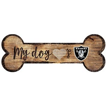 Oakland Raiders Dog Bone Wall Sign