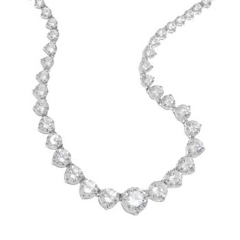 graduated tennis bezel necklaces inch half product necklace round diamond c ct p