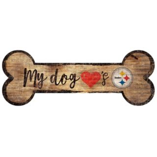 Pittsburgh Steelers Dog Bone Wall Sign