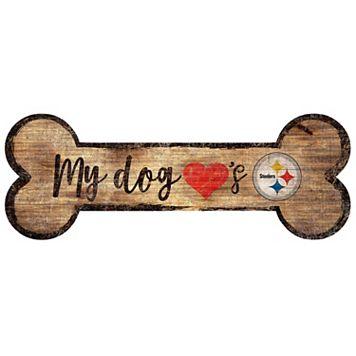 Pittsburgh Steelers Dog Bone Wall Sign