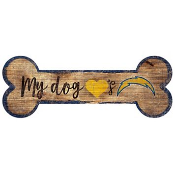 San Diego Chargers Dog Bone Wall Sign