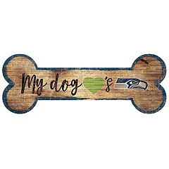 Seattle Seahawks Dog Bone Wall Sign